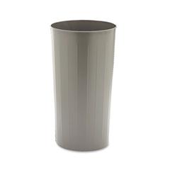 Safco Round Wastebasket, Steel, 20gal, Charcoal