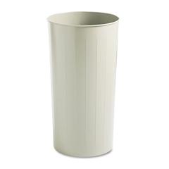 Safco Round Wastebasket, Steel, 20gal, Sand