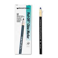Sharpie Peel-Off China Markers, Blue, Dozen