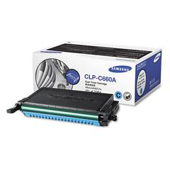 Samsung CLPC660A Toner, 2000 Page-Yield, Cyan