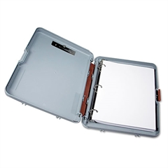 "Saunders Ringmate Storage Clipboard, 1"" Capacity, Holds 8-1/2w x 12h, Gray/Maroon"