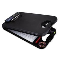 """Saunders DeskMate II w/Calculator, 1/2"""" Clip Cap, 8 1/2 x 12 Sheets, Black"""