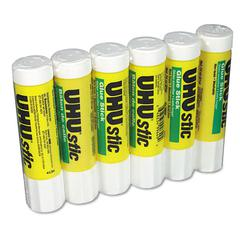 UHU UHU Stic Permanent Clear Application Glue Stick, .74 oz, 6/Pack