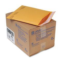 Jiffylite Self Seal Mailer, #2, 8 1/2 x 12, Golden Brown, 25/Carton