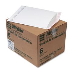 Jiffylite Self Seal Mailer, #6, 12 1/2 x 19, White, 50/Carton