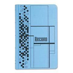 Adams Record Ledger Book, Blue Cloth Cover, 500 7 1/4 x 11 3/4 Pages