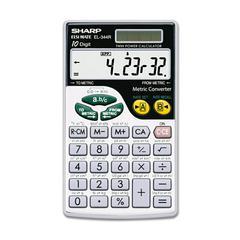 EL344RB Metric Conversion Wallet Calculator, 10-Digit LCD