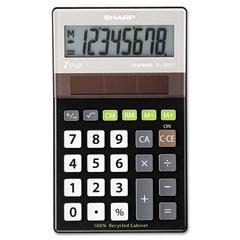 Sharp EL-R277BBK Recycled Series Handheld Calculator, 8-Digit LCD