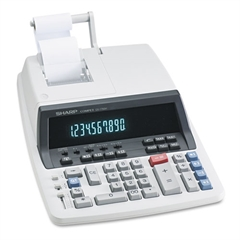 Sharp QS-1760H Two-Color Ribbon Printing Calculator, Black/Red Print, 4.8 Lines/Sec