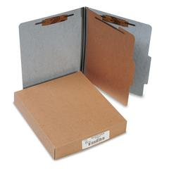20-Pt PRESSTEX Classification Folders, Letter, 4-Section, Gray, 10/Box