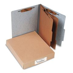20-Pt PRESSTEX Classification Folders, Letter, 6-Section, Gray, 10/Box