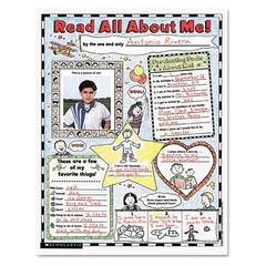 "Scholastic Instant Personal Poster Sets, Read All About Me, 17"" x 22"", 30/Pack"