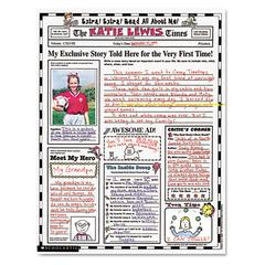"Scholastic Instant Personal Poster Sets, Extra Extra Read All About Me, 17"" x 22"", 30/Pack"
