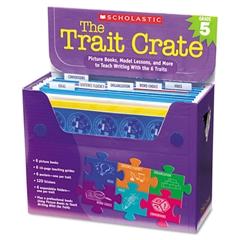 Scholastic Trait Crate, Grade 5, Seven Books, Posters, Folders, Transparencies, Stickers