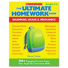 The Ultimate Homework Book: Grammar, Usage and Mechanics, Grades 3-6, 176 Pages