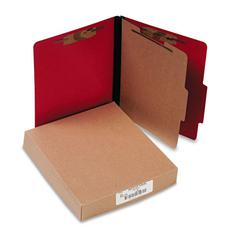 ColorLife PRESSTEX Classification Folders, Letter, 4-Section, Exec Red, 10/Box
