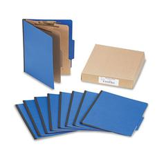 ACCO ColorLife PRESSTEX Classification Folders, Letter, 6-Section, Dark Blue, 10/Box