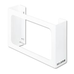 San Jamar White Enamel Disposable Glove Dispenser, Three-Box, 18w x 3 3/4d x 10h