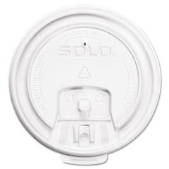 SOLO Cup Company Hot Cup Lids, White, 1000/Carton