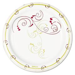 """Symphony Paper Dinnerware, Mediumweight Plate, 6"""", Tan, 1000/Carton"""