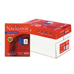 Navigator Premium Multipurpose Paper, 97 Brightness, 3-Hole Punch, 20lb, Ltr, WE, 5000/Ctn