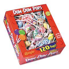 Dum-Dum-Pops, Assorted Flavors, Individually Wrapped, 120 Count Box