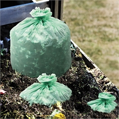 Stout EcoSafe-6400 Compostable Compost Bags, 1.1mil, 30 x 39, Green, 48/Box