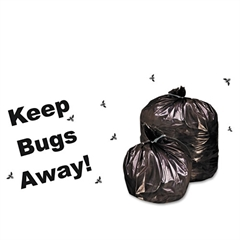Stout Insect-Repellent Trash Garbage Bags, 45gal, 2mil, 40 x 45, Black, 65/Box