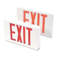 "Tatco LED Exit Sign, Polycarbonate, 12 1/4"" x 2 1/2"" x 8 3/4"", White"