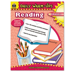 Teacher Created Resources Daily Warm-Ups: Reading, Grade 1, Paperback, 176 Pages