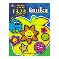 Teacher Created Resources Sticker Book, Smiles, 1,323/Pack