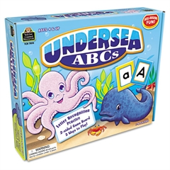 Teacher Created Resources Undersea ABCs Game, Ages 4 and Up, 1-4 Players