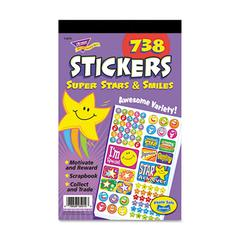 TREND Sticker Assortment Pack, Super Stars and Smiles, 738 Stickers/Pad