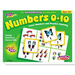 TREND Numbers 0-10 Match Me Puzzle Game, Ages 3-6