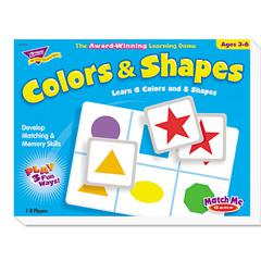 TREND Colors and Shapes Match Me Puzzle Game, Ages 4-7