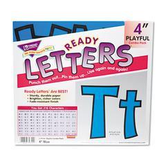 "TREND Ready Letters Playful Combo Set, Blue, 4""h, 216/Set"