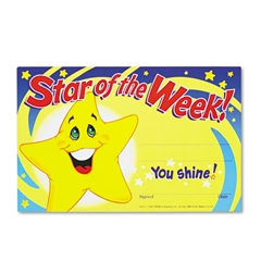 TREND Recognition Awards, Star of the Week!, 8-1/2w x 5-1/2h, 30/Pack