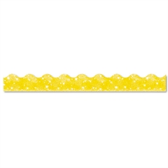 "TREND Terrific Trimmers Sparkle Border, 2 1/4"" x 39"" Panels, Yellow, 10/Set"