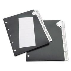 Index Divider Set For Catalog Rack, 5-Tab Set, Black