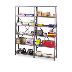 """Industrial Post Kit, for 36"""" & 48"""" Wide Shelves, Medium Gray"""