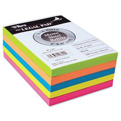 TOPS Fluorescent Color Memo Sheets, 20 lb, 4 x 6, Assorted, 500 Sheets/Pack