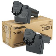 Toshiba T1600 Toner, 5000 Page-Yield, 2/Carton, Black