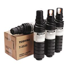 Toshiba T3520 Toner Bottle, 15000 Page-Yield, 4/Carton, Black