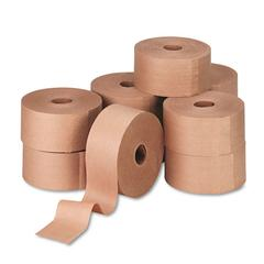 "Reinforced Kraft Sealing Tape, 3"" x 450ft, Brown, 10/Carton"