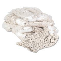 Boardwalk Premium Cut-End Wet Mop Heads, Cotton, 20oz, White, 12/Carton