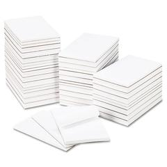 Bulk Scratch Pads, Unruled, 5 x 8, White, 100 Sheet Pads, 64 Pads/Carton