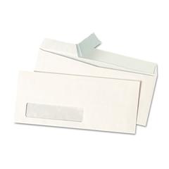 Universal Peel Seal Strip Business Envelope, #10, Window, White, 500/Box