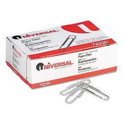 Universal Nonskid Paper Clips, Wire, No. 1, Silver, 100/Box