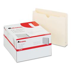 Universal Economical File Jackets with Two Inch Expansion, Letter, 11 Point Manila, 50/Box