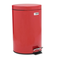 Rubbermaid Commercial Medi-Can, Round, Steel, 3.5gal, Red